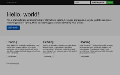 Build your own WP theme with Bootstrap