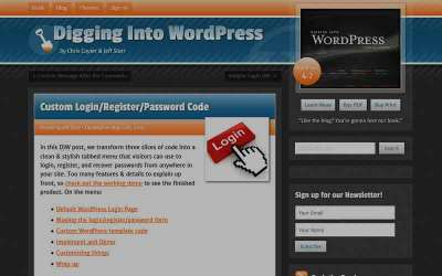 Make a custom login, register and lost password form