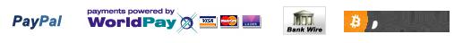 betaalbaar met Paypal, Worldpay, Overschrijving, Bitcoin