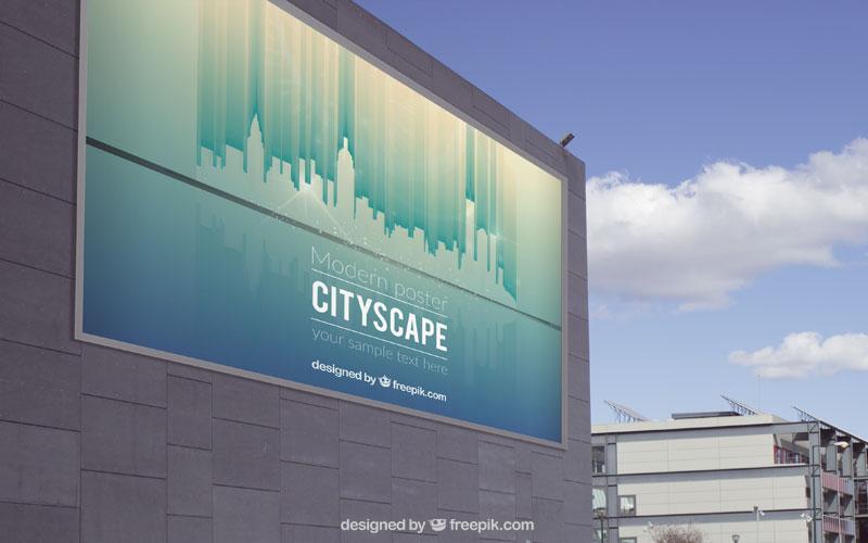 Cityscape billboard